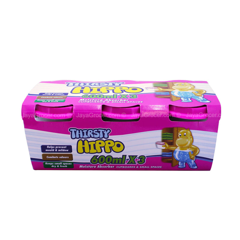 Thirsty Hippo Moisture Absorber 600ml x 3