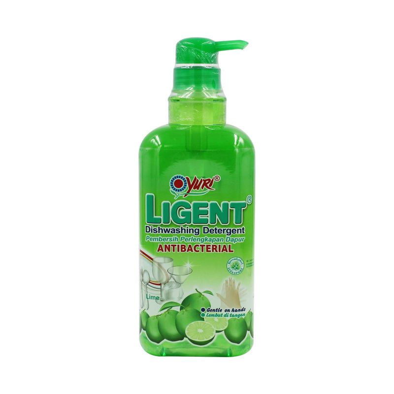 Yuri Ligent Anti-Bacterial Dishwashing Detergent Lime 1L