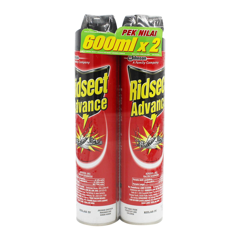 Ridsect Advance Aerosol 600ml x 2