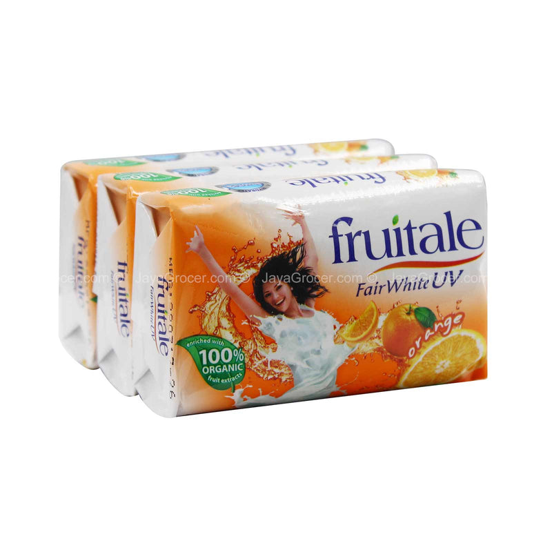 Fruitale Fair White UV Orange Bar Soap 80g x 3