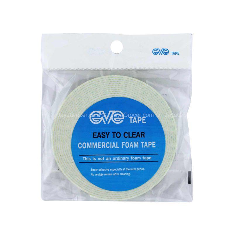 Eve Tape Easy to Clear Commercial Foam Tape (12mm x 5M) 1unit