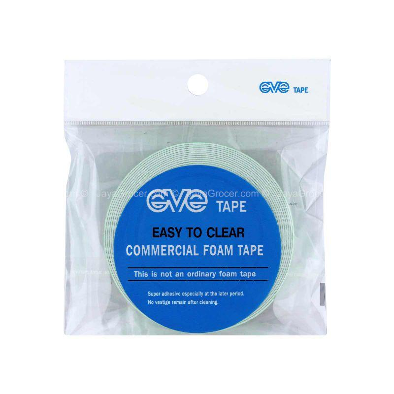 Eve Tape Easy to Clear Commercial Foam Tape 18mm x 5M 1unit