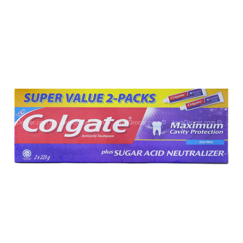 Colgate Sugar Acid Neutralizer Toothpaste 225g x 2