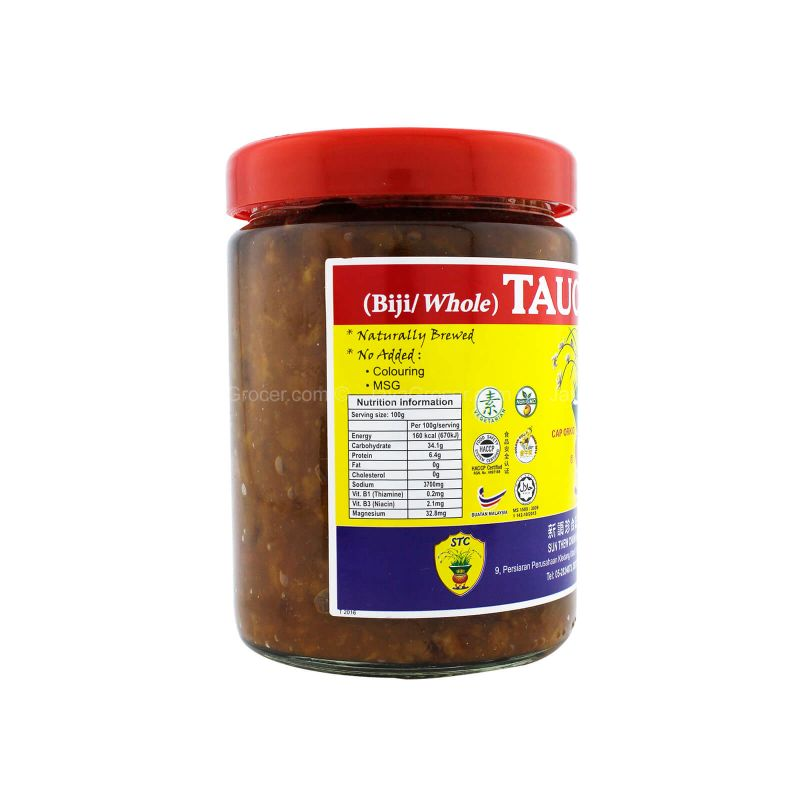 Orchid Brand Whole Salted Soy Bean Paste (Taucu Biji) 475g