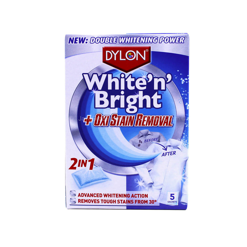 Dylon White 'n' Bright 2in1 Oxi Stain Removal 30g x 5sachets