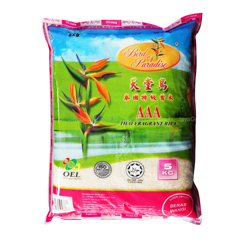Bird of Paradise AAA Thai Fragrant Rice 5kg