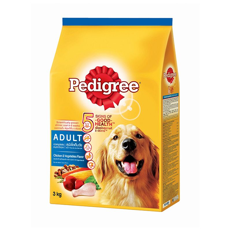 Pedigree Adult Dog Chicken and Vegetables Flavor Dog Food 3kg