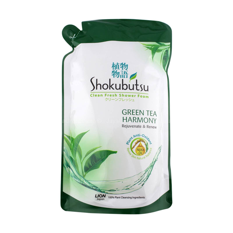 Shokubutsu Green Tea Harmony Shower Foam Refill Pack 550g
