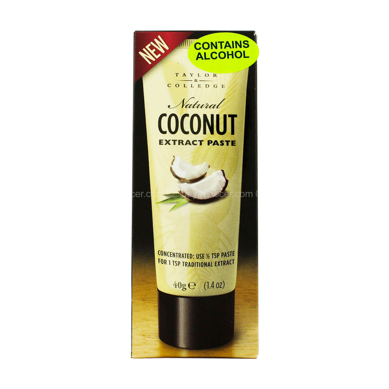 Taylor and Colledge Natural Coconut Extract Paste 40g