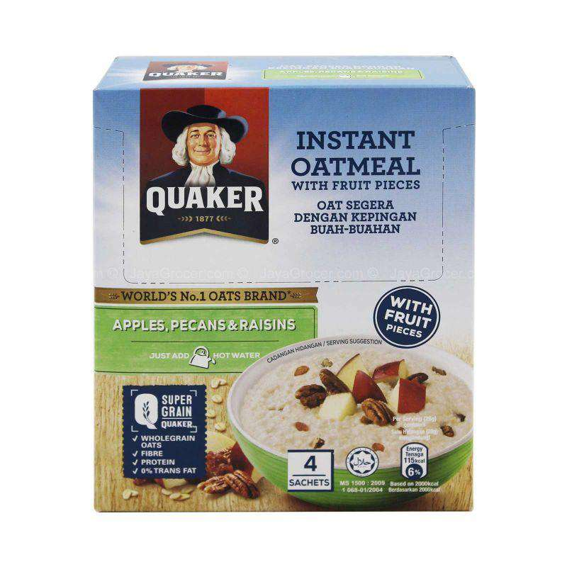 Quaker Instant Oatmeal with Fruit Pieces 168g