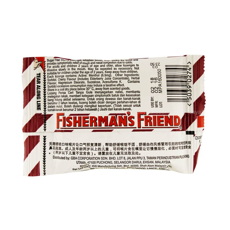 Lofthouse's Fisherman's Friend Sugar Free Cherry Lozenges 25g