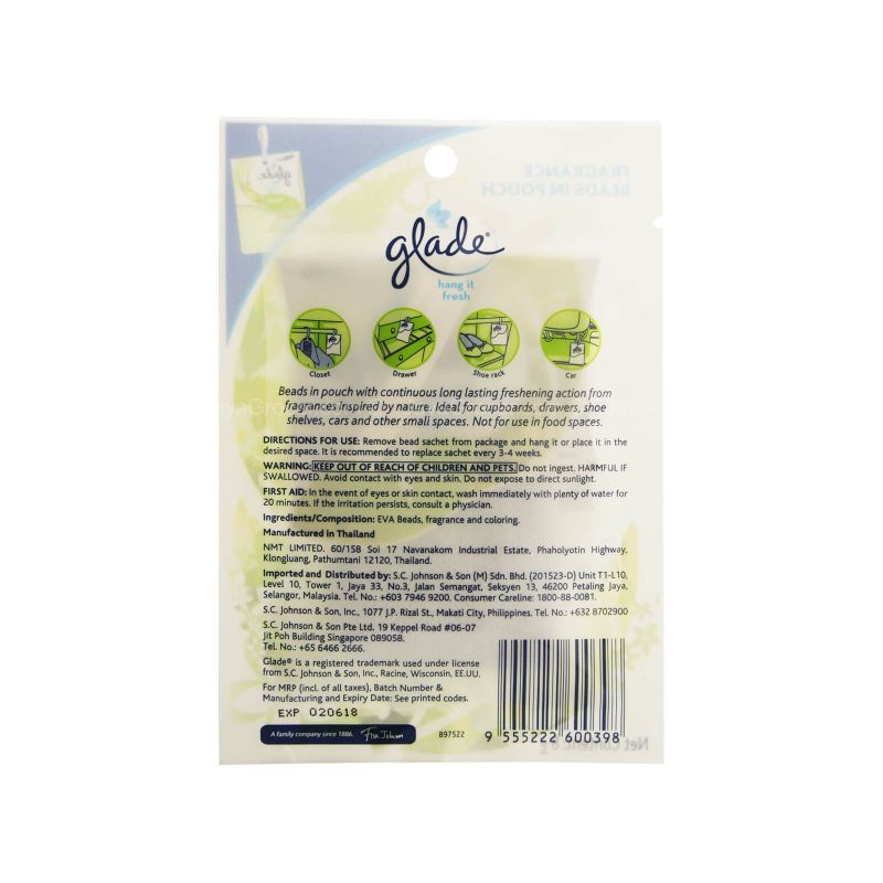 Glade Hang It Fresh Jasmine Fragrance Beads 8g