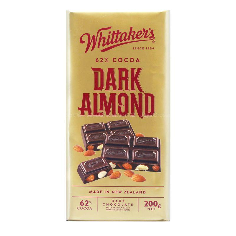 Whittaker's Dark Almond Chocolate Bar 200g