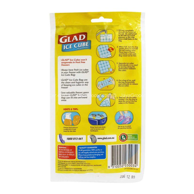Glad Ice Cube Easy Release Bags 8pcs