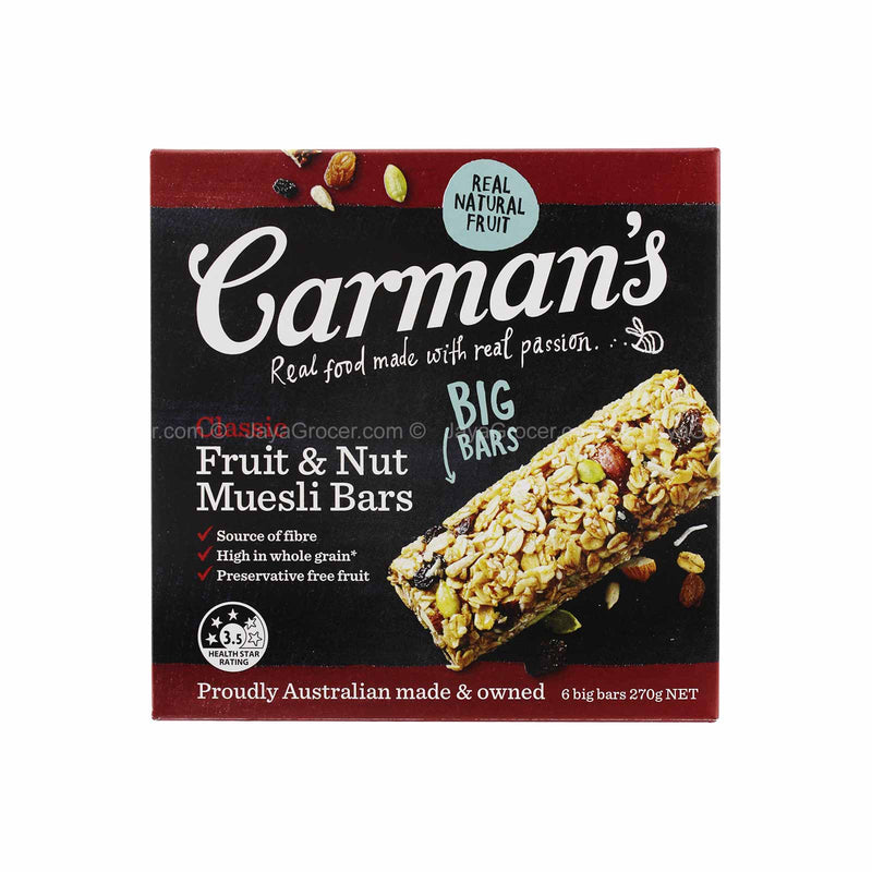 Carman's Classic Fruit & Nut Muesli Bar 270g