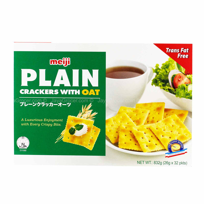 Meiji Plain Crackers with Oat Box 832g