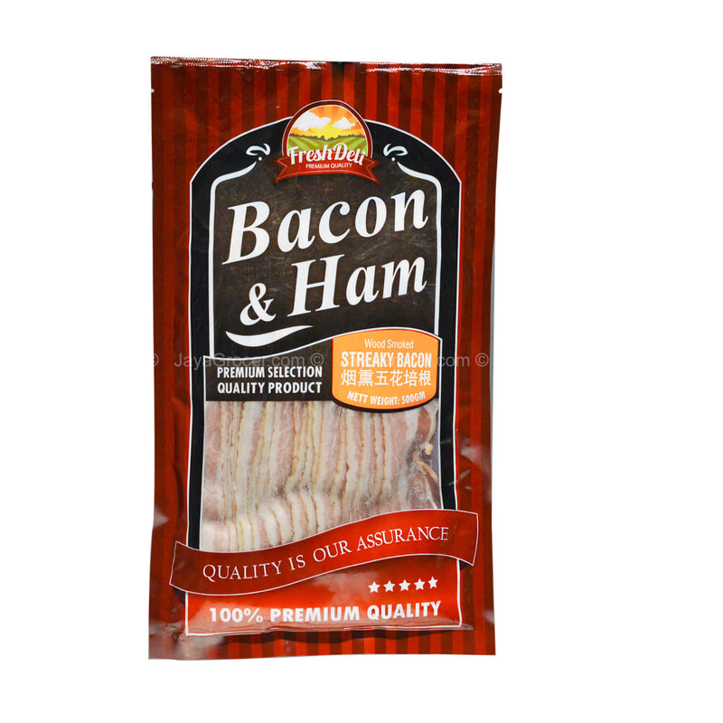 Streaky Bacon Slices 500g