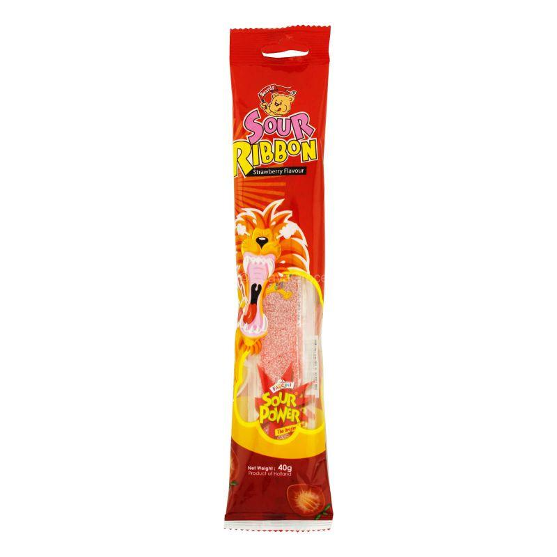 Fascini Sour Power Strawberry Flavour Jelly 40g