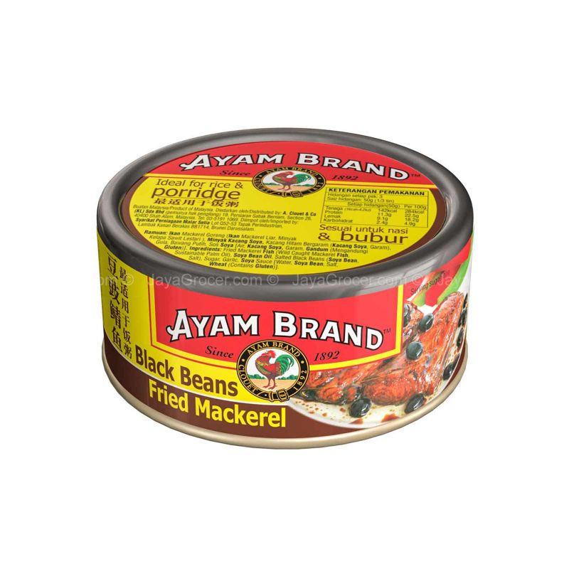 Ayam Brand Fried Mackerel in Black Beans 150g