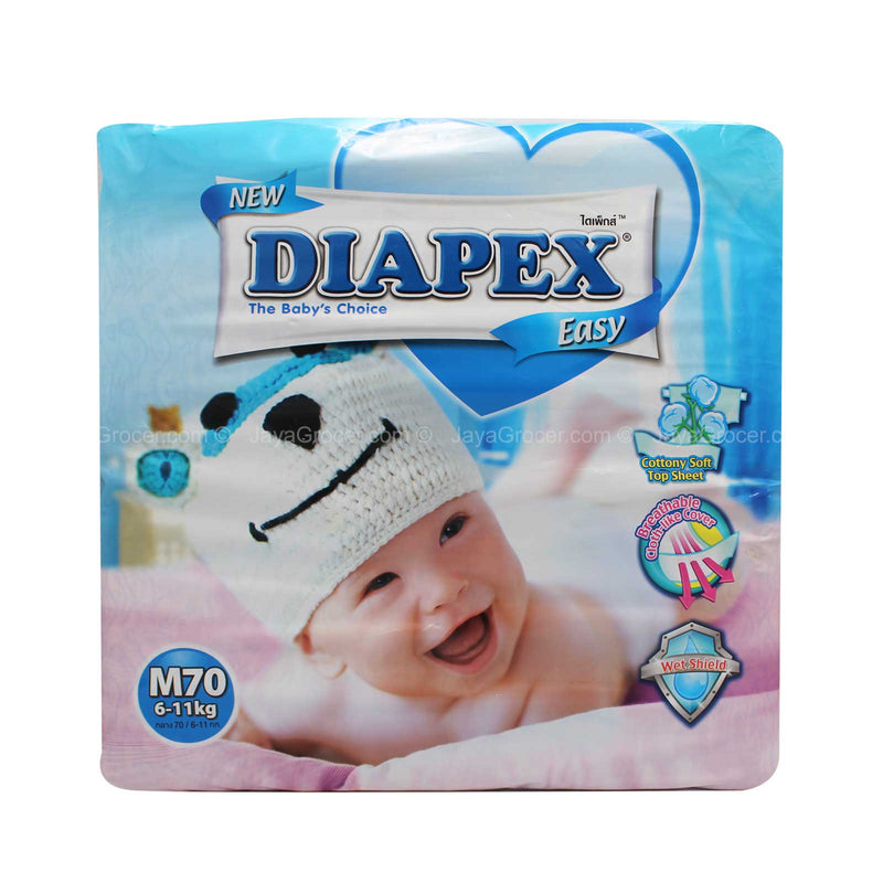 Diapex Easy Baby Diapers M Size 70pcs