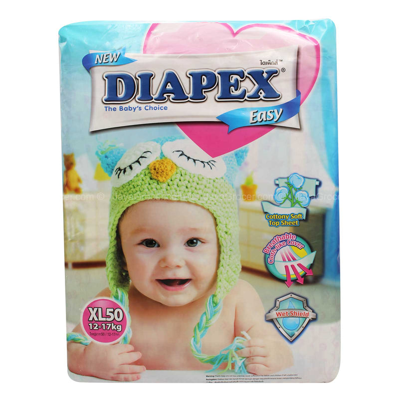 Diapex Easy Baby Diapers XL Size 50pcs