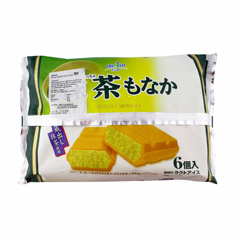 Ohayo Matcha Wafer Ice Cream Family Pack 110ml x 6