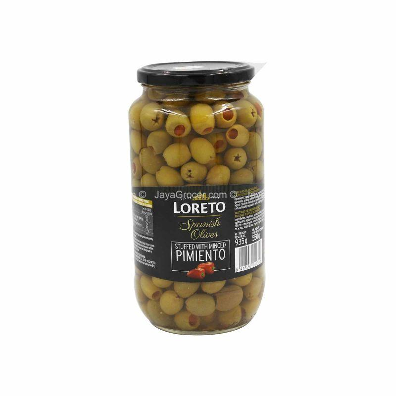 Loreto Spanish Olives Stuffed with Minced Pimiento 935g