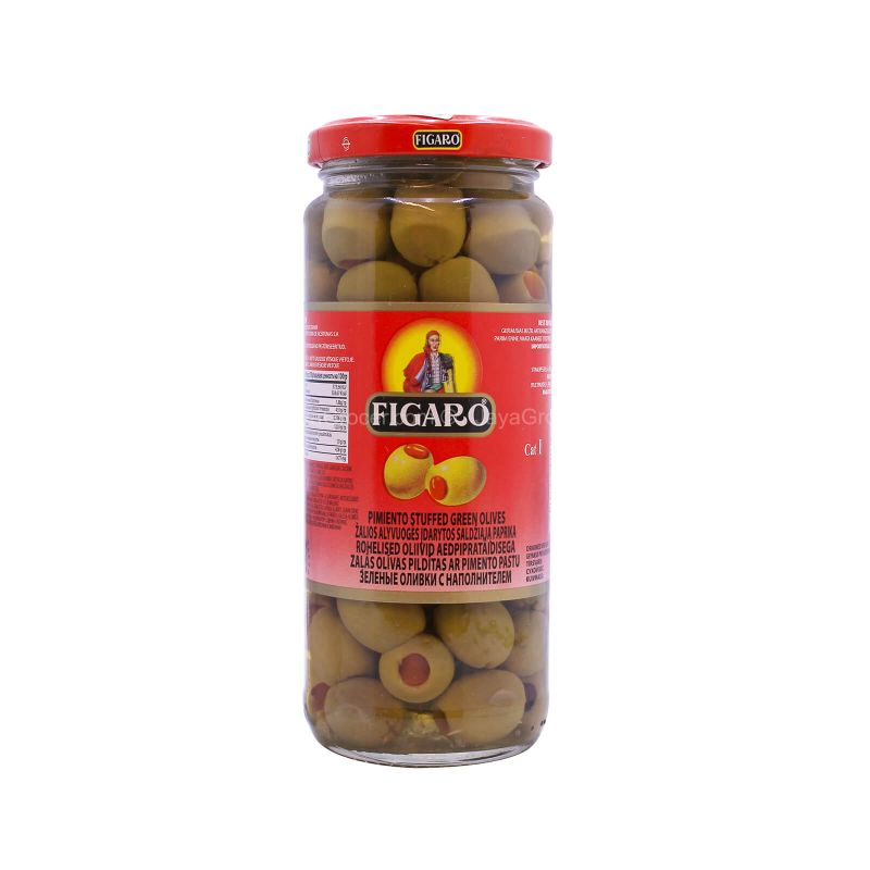 Figaro Pimiento Stuffed Green Olives 340g