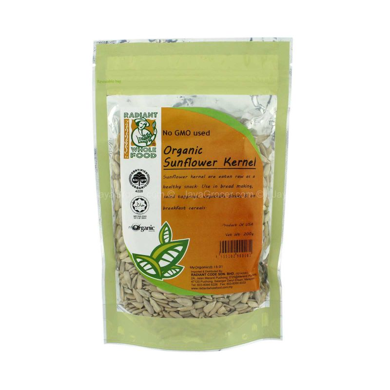 Radiant Whole Food Organic Sunflower Kernel 200g