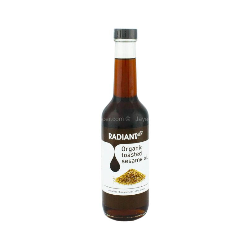 Radiant Whole Food Organic Toasted Sesame Oil 310ml