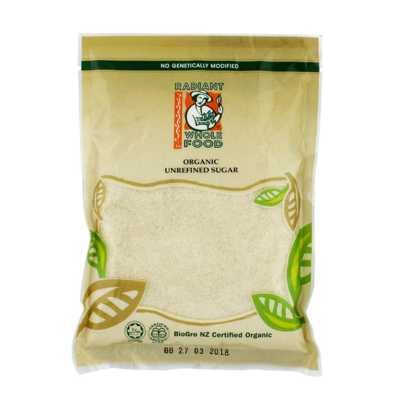 Radiant Whole Food Organic Unrefined Sugar 500g