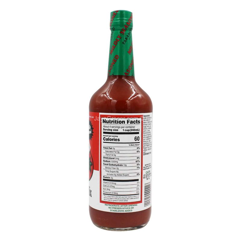 Tabasco  Tomato Cocktail Bloody Mary Mix 946ml