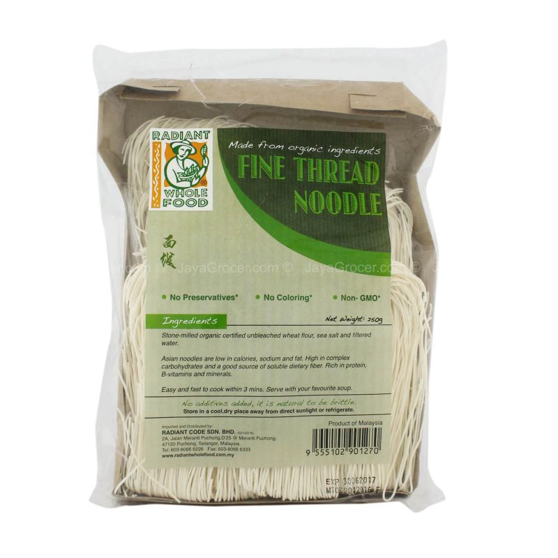 Radiant Whole Food Organic Fine Thread Noodle 250g
