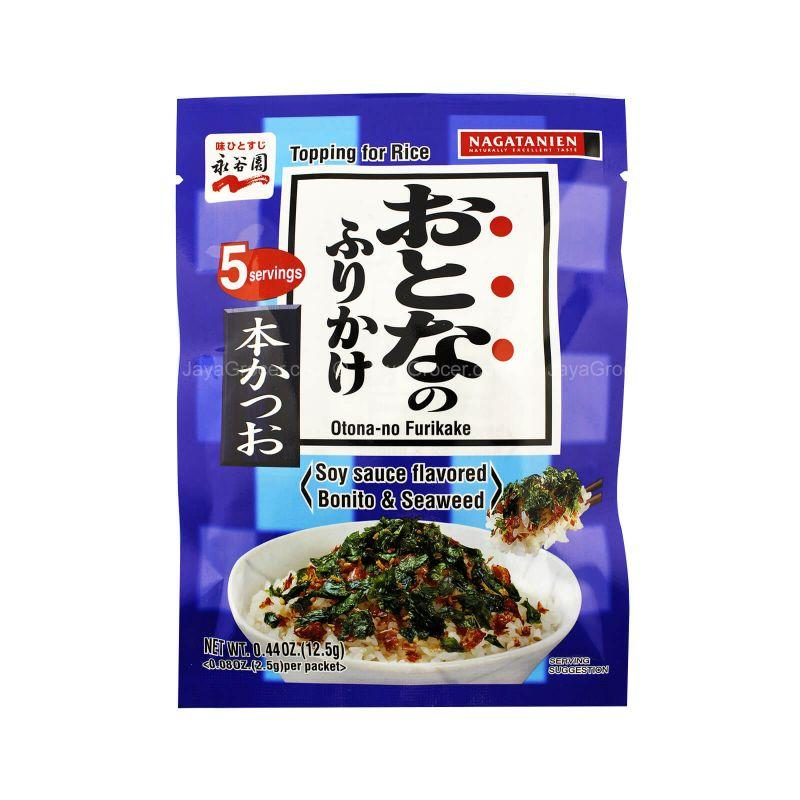 Nagatanien Soy Sauce Flavored Bonito & Seaweed Topping for Rice 12.5g