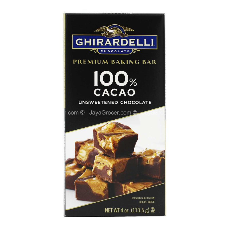 Ghirardelli Unsweetened Chocolate Premium Baking Bar 113.5g