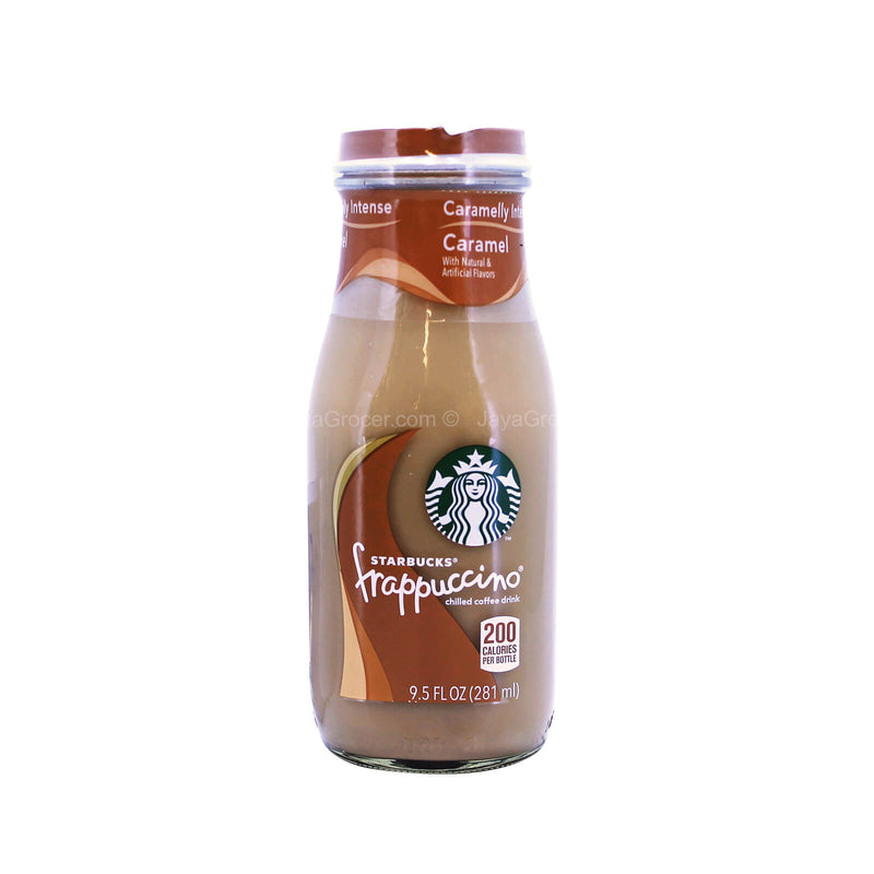 Starbucks Bottled Caramel Frappuccino Chilled Coffee Drink 281ml