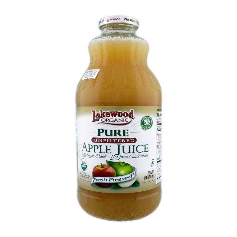 Lakewood Organic Unfiltered Apple Juice 946ml
