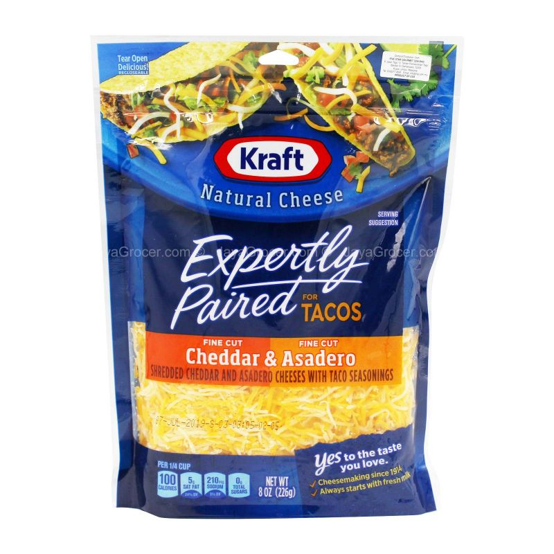 Kraft Mexican Style Taco Cheese 226g