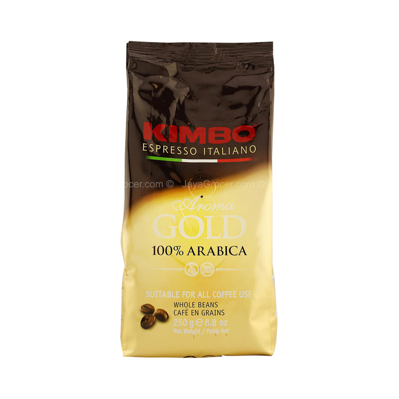 Kimbo Aroma Gold 100% Arabica Whole Coffee Beans 250g