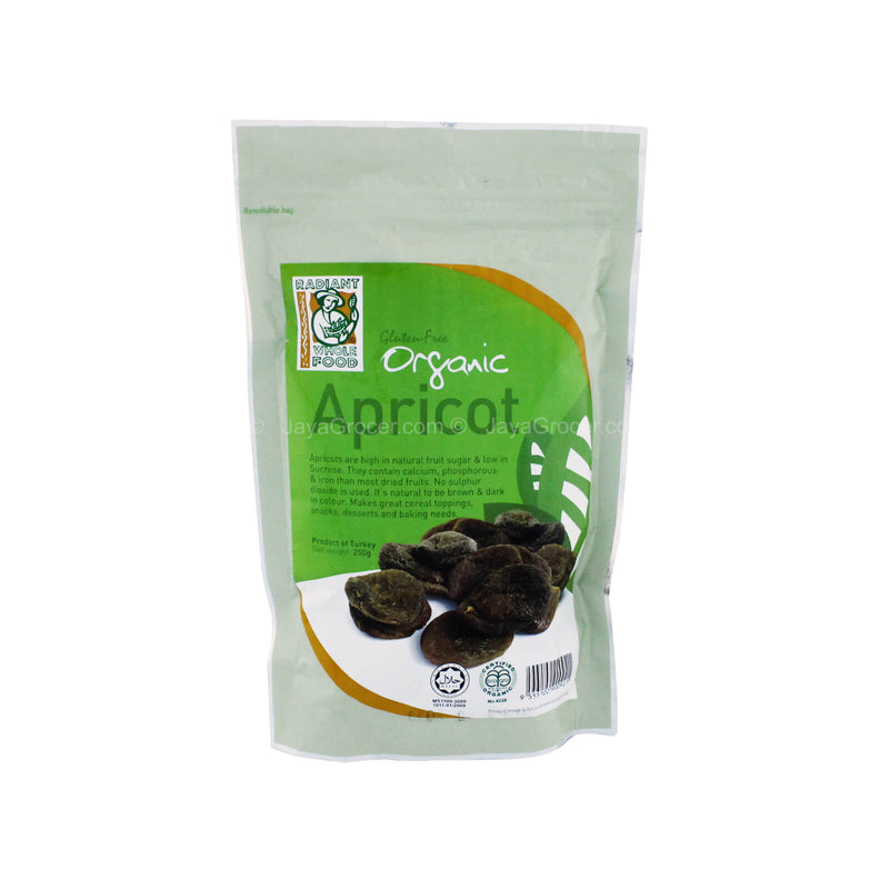 Radiant Whole Food Organic Apricot 250g