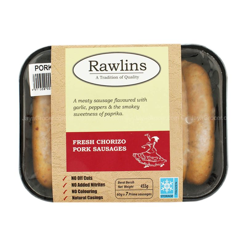 Rawlins Fresh Chorizo Pork Sausages 455g