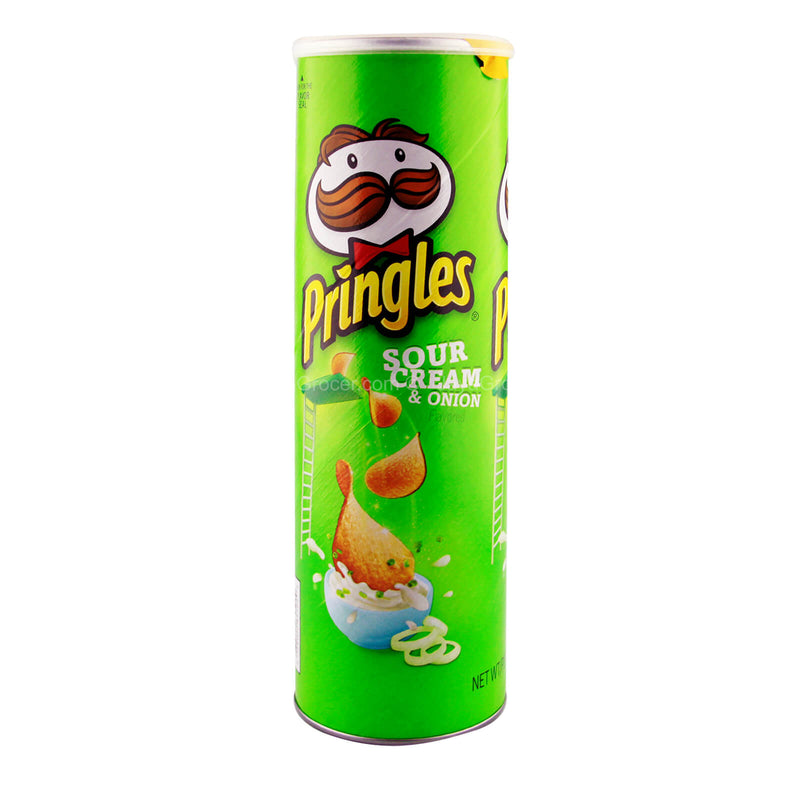 Pringles Sour Cream and Onion Potato Crisps (USA) 158g