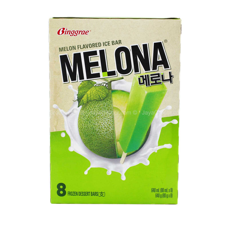 Binggrae Melona Melon Flavoured Ice Bar 8 x 80m
