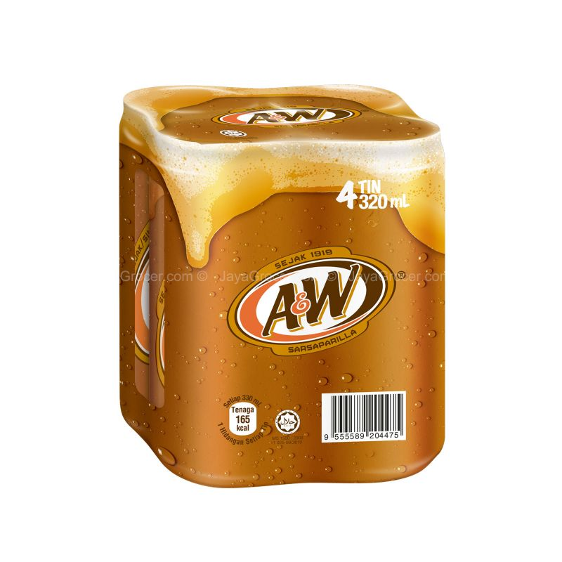 A&W Sarsaparilla Carbonated Drink 320ml