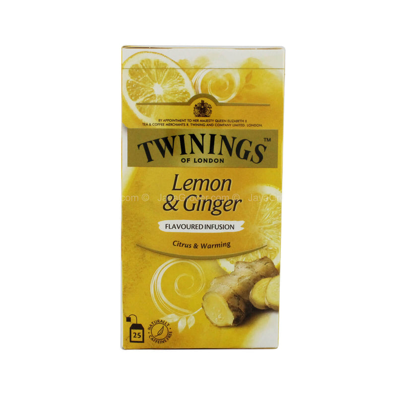 Twinings of London Lemon and Ginger Flavoured Infusion Tea 37.5g