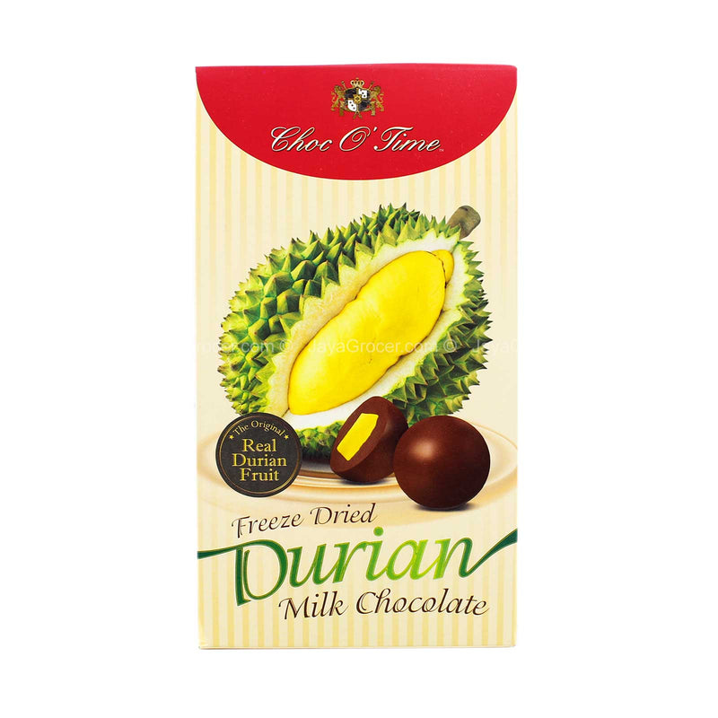 Choc O' Time Freeze Dried Durian Milk Chocolate 120g