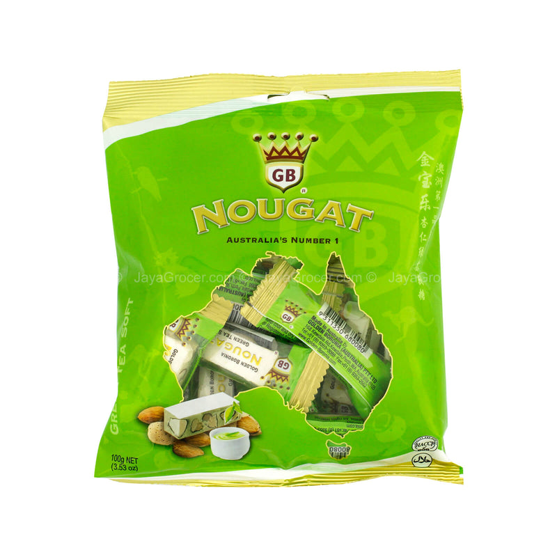 Golden Boronia Soft Green Tea Nougat 100g