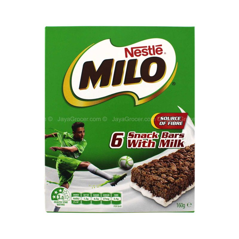Nestle Milo Snack Bars with Milk 160g