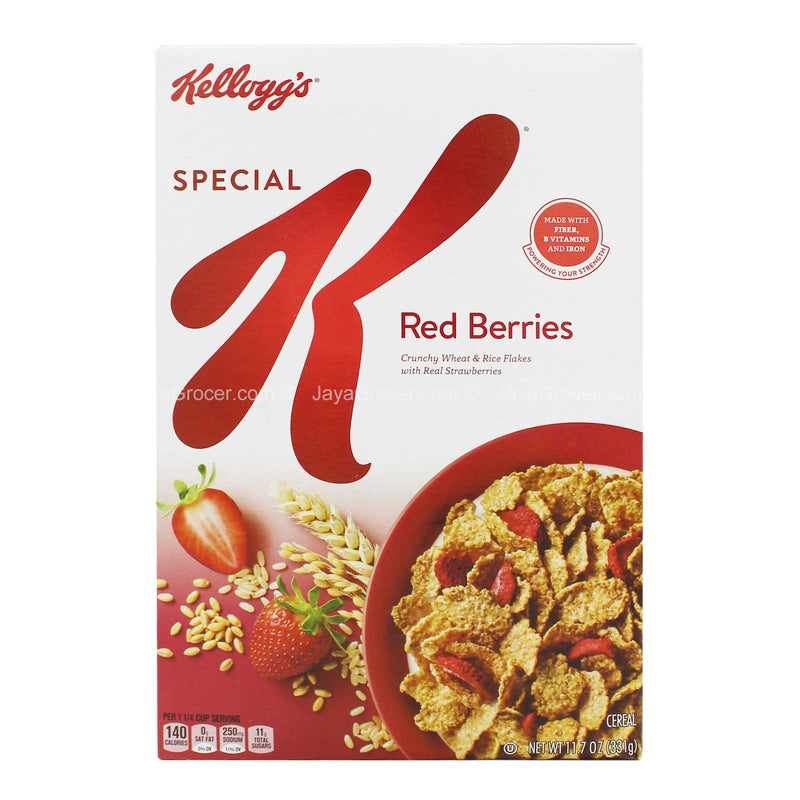 Kellogg's Special Red Berries Crunchy Rice & Wheat Flakes with Real Strawberries 331g