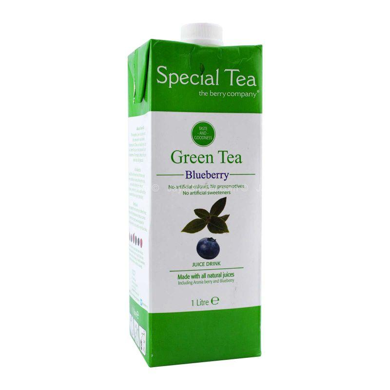 The Berry Company Special Tea Green Tea and Blueberry Drink 1L
